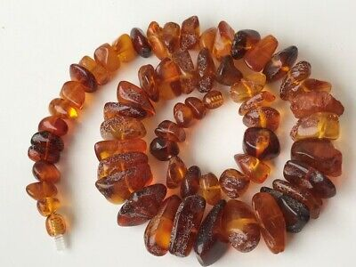 Natural Antique Baltic Vintage Amber OLD BUTTERSCOTCH  BEADS Necklace 53 gr