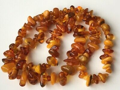 Natural Antique Baltic Vintage Amber OLD BUTTERSCOTCH  BEADS Necklace 56 gr