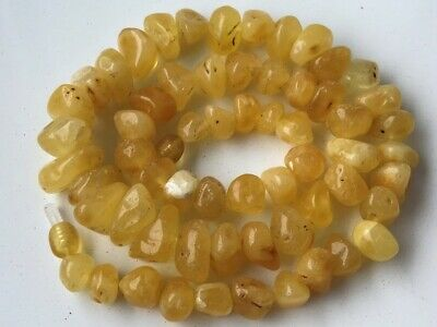 Natural Antique Baltic Vintage Amber OLD BUTTERSCOTCH  BEADS Necklace 35.29 gr