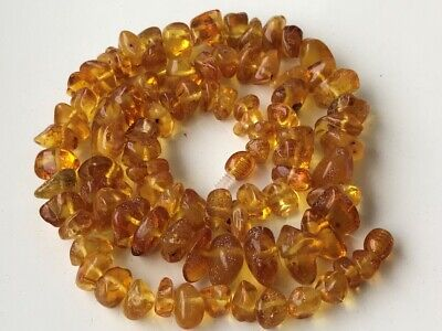 Natural Antique Baltic Vintage Amber OLD BUTTERSCOTCH  BEADS Necklace 36 gr