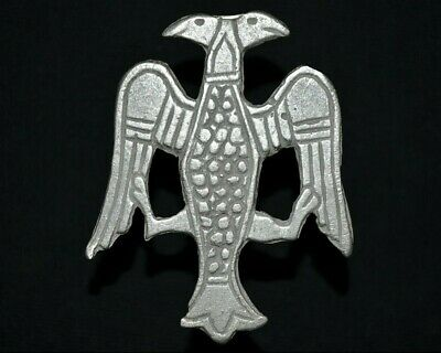 Ancient Viking Large Silver Amulet. Pendant of Norse Raven Bird, c 950-1000 Ad.