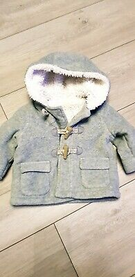 Baby Boys Duffle Coat 0-3 Months good condition
