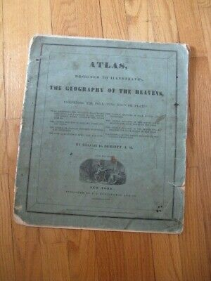 """1835 Atlas """"The Geography of the Heaven's"""" Huntington & Savage Hand Colored"""
