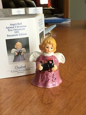 Vintage 1995 20th Edition Goebel Angel Bell  Annual Christmas Tree Ornament