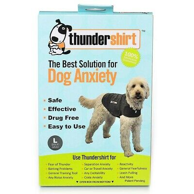 Thundershirt Classic Dog Anxiety Jacket, Solid Gray, Large, 41-64lbs