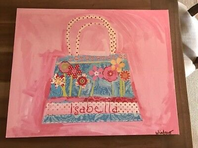 Oopsy Daisy Too Canvas wall Art for kids 16x20 Personalized Isabella