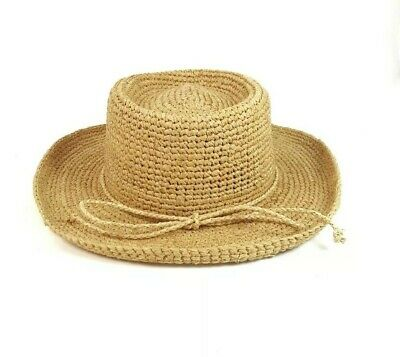 7d9776344cfbc NWT Scala Collection Women s Straw Hat Sun Spring Summer Rolled Brim One  Size