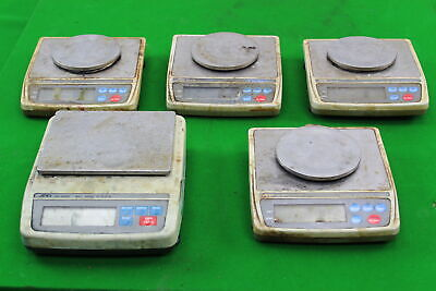 Job Lot 5 A&D Digital Weighing Scales for Gold Jewellery Lab AND EK610i EK600H