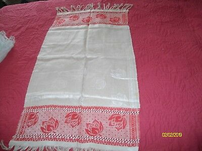 Antique Turkey Red Linen Towel Never Used