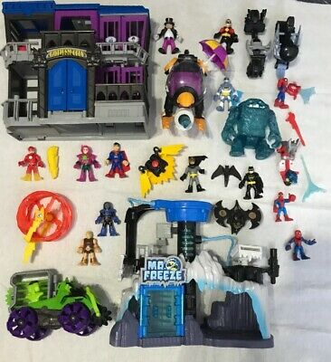 Huge Lot Of DC Universe Imaginext Play sets *pre-owned*