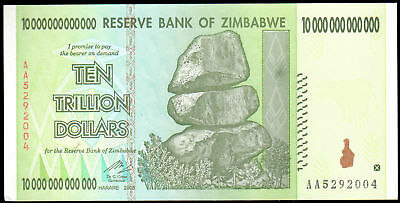 2008 Zimbabwe Ten Trillion Dollar Note - Uncirculated
