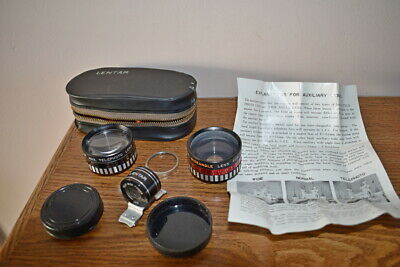 Lentar auxilary wide angle & telephoto lens for Kodak Instamatic 700/800 in case