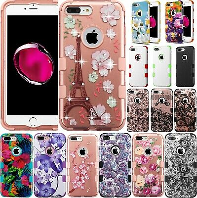 For iPhone 7 Plus / iPhone 8 Plus Case Mybat TUFF Shockproof Hybrid Phone Cover