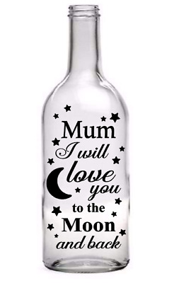 Mum/'s are like buttons mother/'s day Vinyl Decal Wine Bottle Sticker.