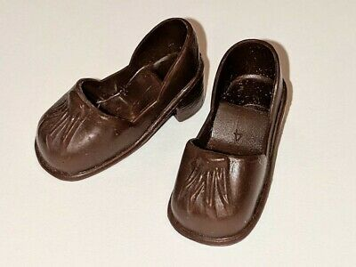 Vintage Pedigree SINDY Doll Dark Brown Chunky Heel Shoes