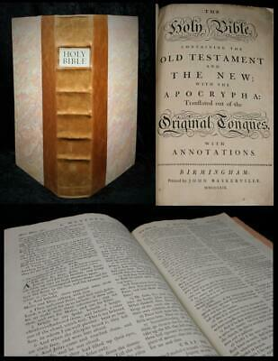 1769 Baskerville Bible: The Holy Bible with the Apocrypha