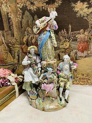 Meissen Figurine Group Ex Condition Circa Early 19c
