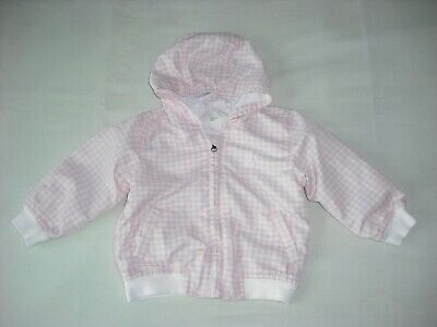 2d883cdc7bd6a Benetton baby girls pink gingham check jacket coat 6-9 months spring summer