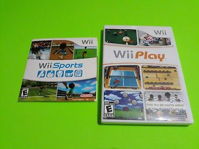 Nintendo Wii Sports and Wii Play Game Bundle Lot