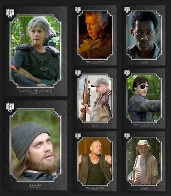 Prominent Portraits-Wave 1-Onyx-8 Card Set-Topps Walking Dead Card Trader