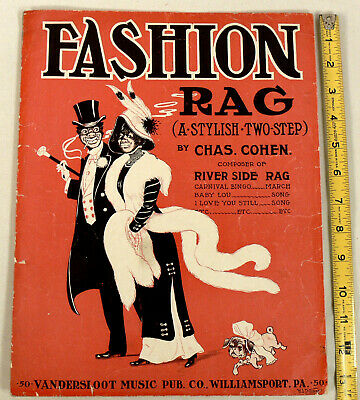 Vintage 1912 Black Americana Sheet Music Charles Cohen Fashion Rag