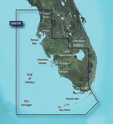 2016 Garmin BlueChart g2 Vision HD VUS011R Map / Southwest Florida 010-C0712-00