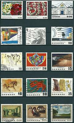 Denmark - Nice Lot - Jumbostamps - Art/Paintings - 57 Different - Used - 4 Scans