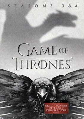 Game of Thrones: Seasons 3 and 4 (DVD, 2017) Brand New