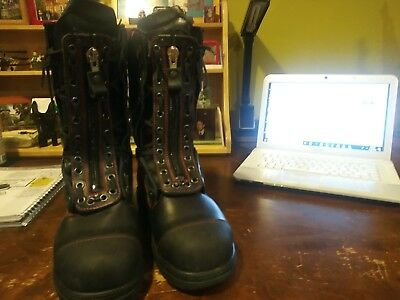 NEW Haix FireFlash Firefighter Leather Structural Boots - Size 9
