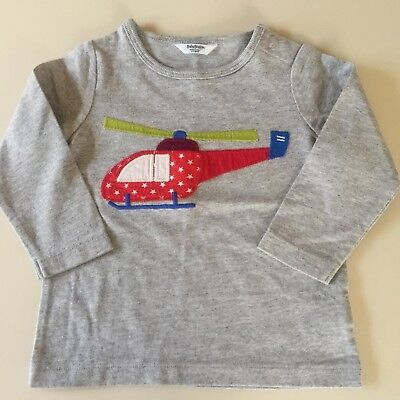 """Mini Boden AWESOME Baby Boys """"HELICOPTER"""" Shirt. Size 6-12 Months. So Comfy"""