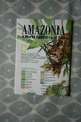 1992 (August) National Geographic Society Political Map of Amozonia