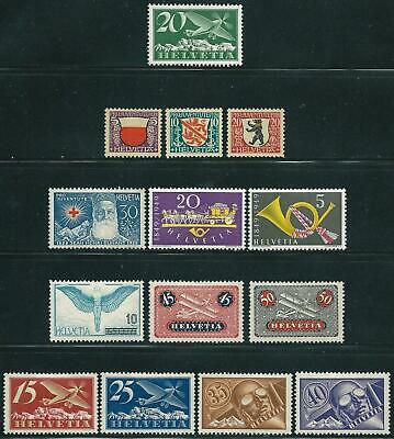 Switzerland - Small Lot - First 3 Is MNH - 3 Small Stamps Is MNG - The Rest MH