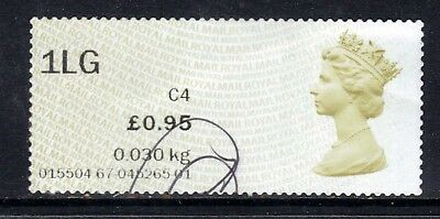 GB 2015 QE2 1st Large 0.95p Post & Go Olive Brown( J951 )