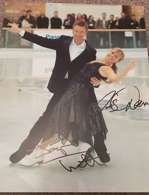 Christopher Dean Jayne Tourvill Ice Skating Olympic Dancing On Ice Hand Signed
