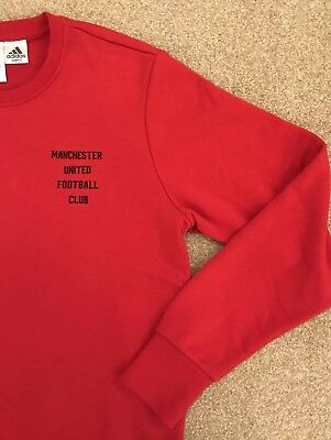 Manchester United Football Club Crew Sweatshirt Uk Medium Devil Red New Matchday