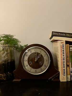 Smith and Enfield Antique Mantel Clock Vintage Chiming