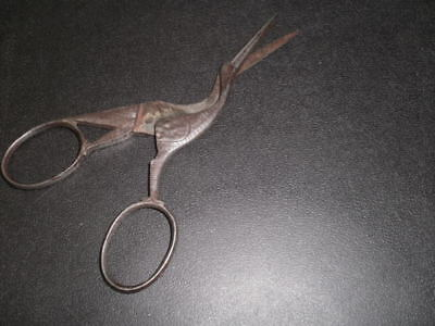 STORK SCISSORS ANTIQUE Decorated Sewing Novelty Item