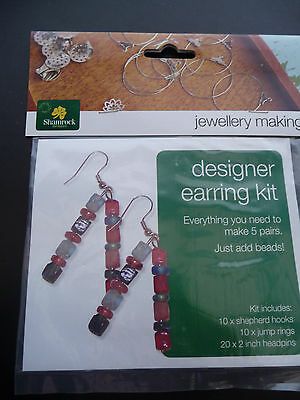 Designer Jewellery Making - Earring kit - GOLD 'Buy 3 Get 1 pkt FREE'
