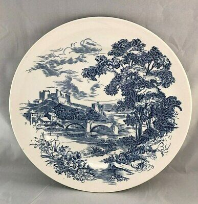Vintage Wedgwood Enoch Countryside Blue And White Dinner Plate England