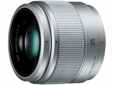 F/S New Panasonic H-H025-K LUMIX G 25mm F/1.7 Lens For M4/3 without box Silver