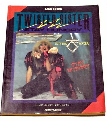 Twisted Sister Stay Hungry Japan Band Score Book Guitar Tab