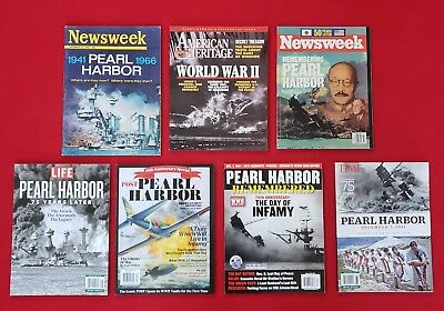 Lot Of 7 Pearl Harbor Magazines: 25th, 50th, 75th Anniversary
