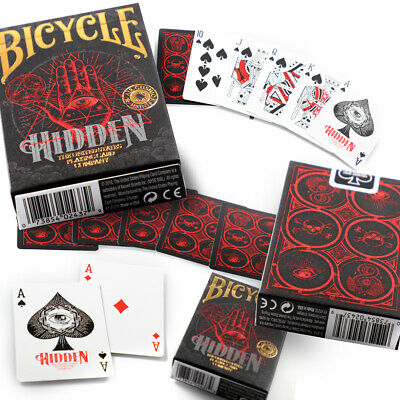 Bicycle Hidden Playing Cards Single Deck Secret Illuminati Limited Edition New