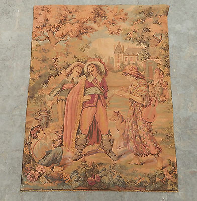 Vintage French Beautiful Scene Tapestry 124x94cm (A321)