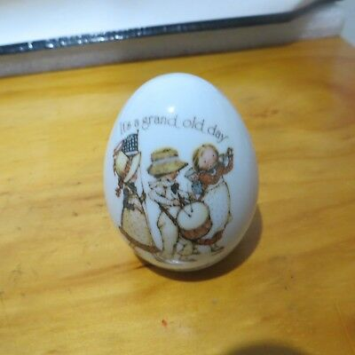 Holly Hobbie Egg Shape Ornament It's A Grand Old Day