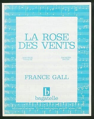 France Gall - La Rose Des Vents - 1966 - Original Musiknote