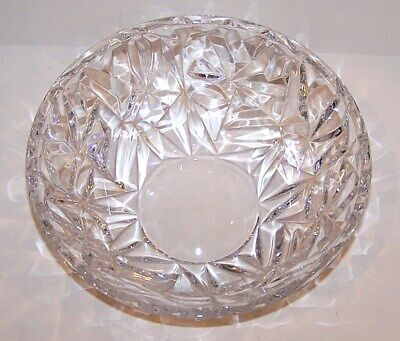 """Beautiful Signed Tiffany & Co Crystal Rock Cut 9"""" Centerpiece Serving Bowl"""