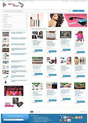 BEAUTY and MAKEUP SHOP WEBSITE BUSINESS FOR SALE! FULLY AUTOMATED WEB BUSINESS
