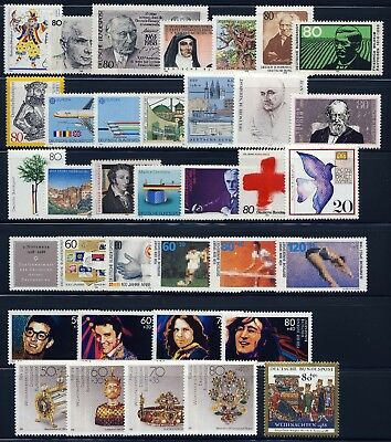 GERMANY . 1988 Commemorative Year Set (36 stamps) . Mint Never Hinged