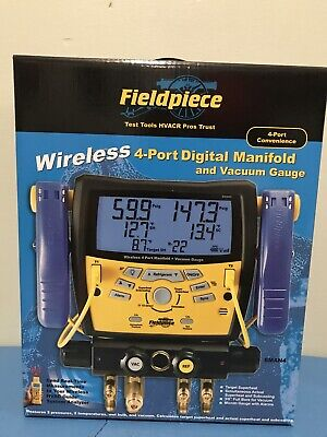 fieldpiece SMAN4 Wireless 4-Port Digital Manifold and Vacuum Gauge